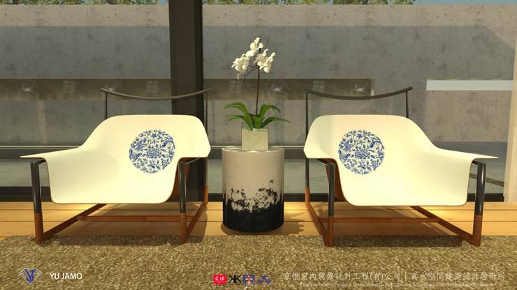 明明德設計椅  - 京悅設計(台灣):  泳池 by 京悅室內裝修設計工程(有)公司|真水空間建築設計居研所