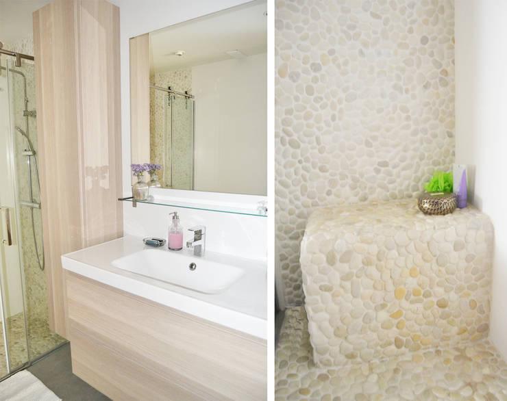 Reforma de cocina y baño en vivienda: Baños de estilo moderno de Dimeic