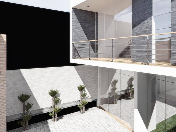 Estacionamiento: Salas / recibidores de estilo  por TECTONICA STUDIO SAC,