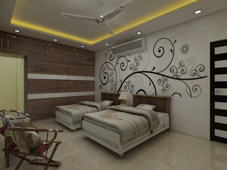 Bedroom: modern Bedroom by Regalias India Interiors & Infrastructure
