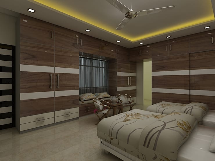 Bedroom :  Teen bedroom by Regalias India Interiors & Infrastructure