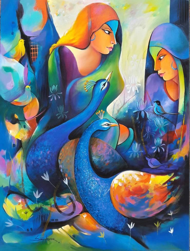 Gossip 4:  Artwork by Indian Art Ideas