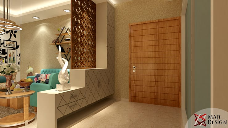 Apartment Project @Palm terrace drives by MAD DESIGN:  Corridor & hallway by MAD DESIGN