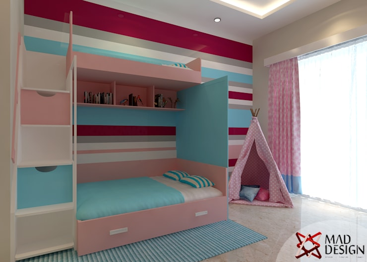 Apartment Project @Palm terrace drives by MAD DESIGN: scandinavian Nursery/kid's room by MAD DESIGN