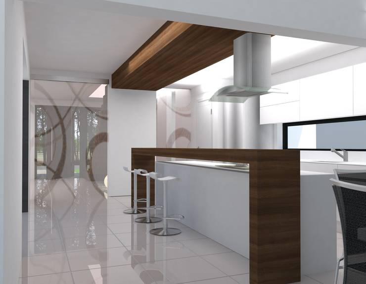 Render Cocina :  de estilo  por Estudio A+I