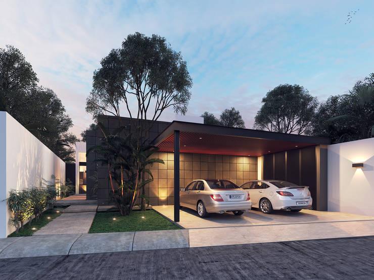 Casa VMC: Casas unifamiliares de estilo  por Heftye Arquitectura