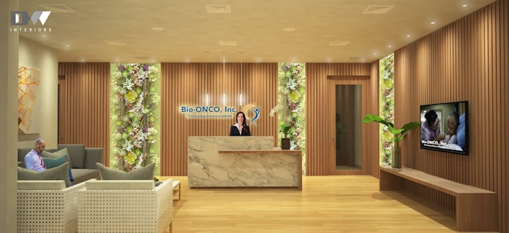 Bio Onco Reception:  Offices & stores by DW Interiors