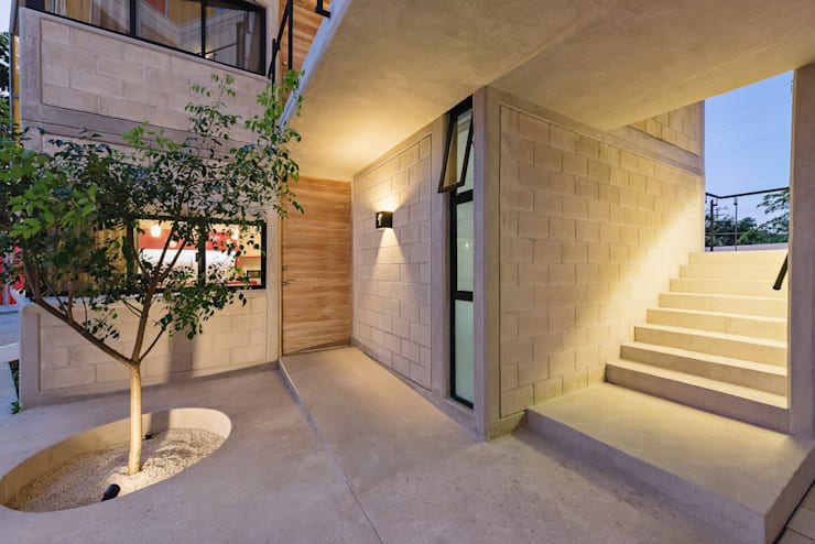 K'inam: Condominios de estilo  por Duarte Aznar Arquitectos