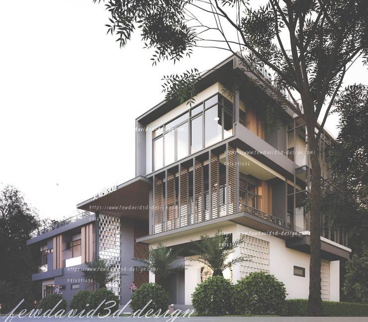 Resort & Hotel จ.ราชบุรี:  วิลล่า by fewdavid3d-design