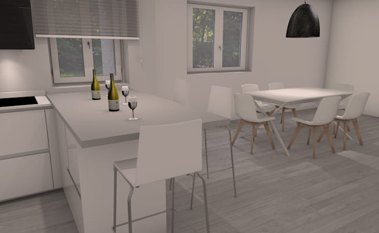 Cucina moderna con penisola von g&s interior design homify