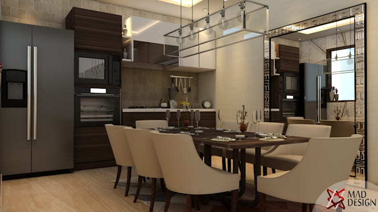 RESIDENTIAL PROJECT: eclectic Dining room by MAD DESIGN