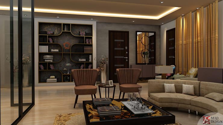 RESIDENTIAL PROJECT: eclectic Living room by MAD DESIGN