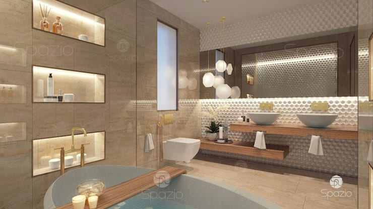 Modern Luxury Master Bathroom Interior Design And Decor In Dubai