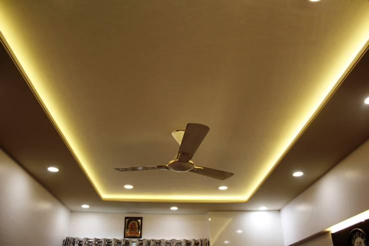 3BHK at Kalyani Nagar: modern Bedroom by Finch Architects