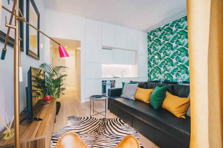 Apartamento T1 | Lisboa: Salas de estar  por YS PROJECT DESIGN