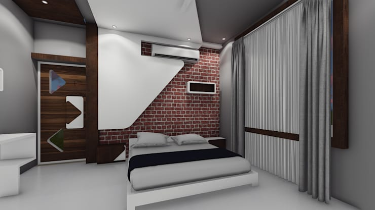 Interior 3D Renderings:   by Cfolios Design And Construction Solutions Pvt Ltd