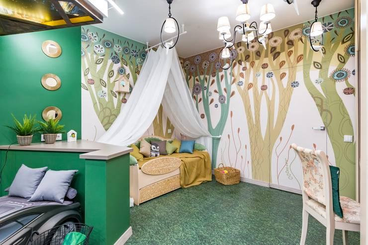 Деконструктивизм в сказочном лесу: Детские спальни в . Автор – Школа Ремонта, Модерн