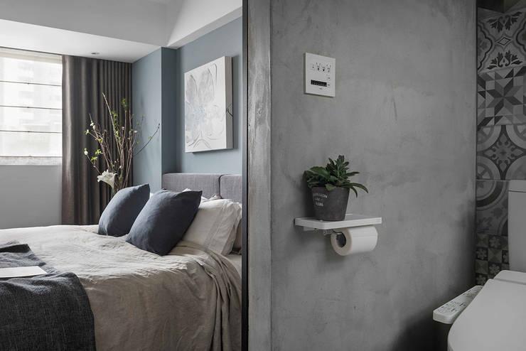 寧靜北歐:  浴室 by 沐光植境設計事業