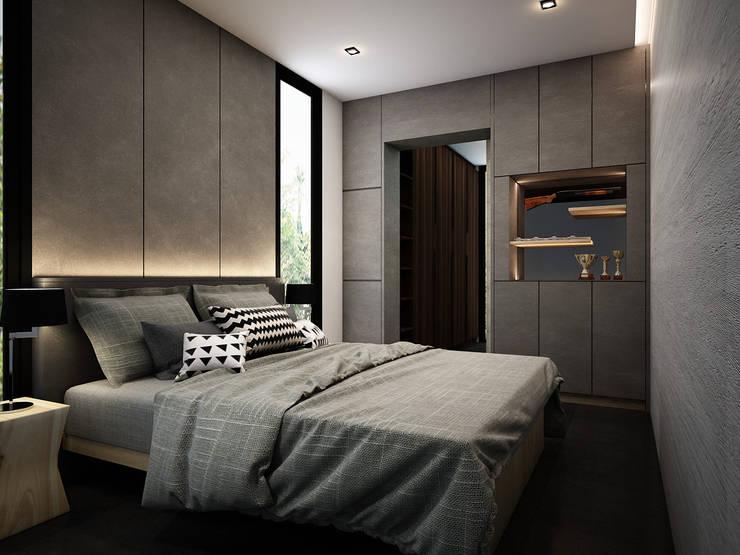 minimalistic Bedroom by Zero field design studio