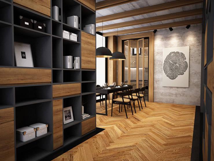 rustic Dining room by Zero field design studio