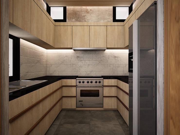 置入式廚房 by Zero field design studio, 現代風