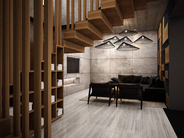 客廳 by Zero field design studio, 工業風