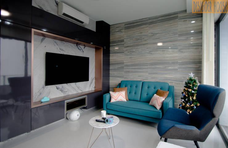 客廳 by Designer House, 現代風 石灰岩