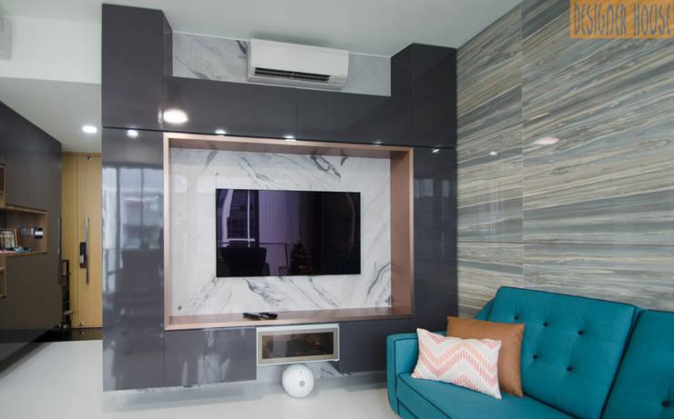客廳 by Designer House, 現代風 銅/青銅/黃銅