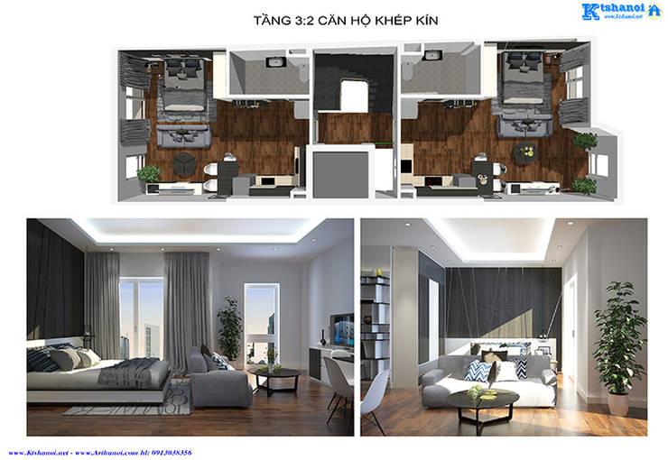 Thiết kế nhà phố 5x18m 7 tầng cho thuê căn hộ:   by Văn phòng kiến trúc Ktshanoi