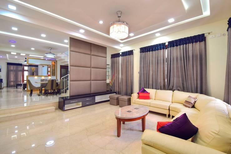 living: modern Living room by Team Kraft