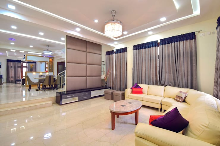 living:  Living room by Team Kraft