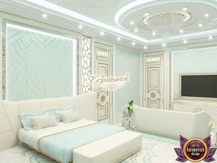 Bright ideas in the interiors of Katrina Antonovich:  Bedroom by Luxury Antonovich Design