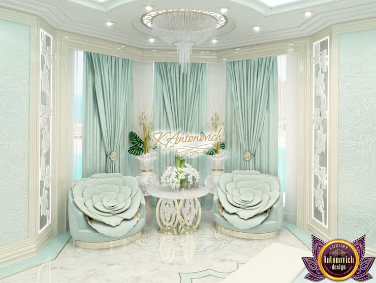 Bright ideas in the interiors of Katrina Antonovich:  Bedroom by Luxury Antonovich Design, Eclectic