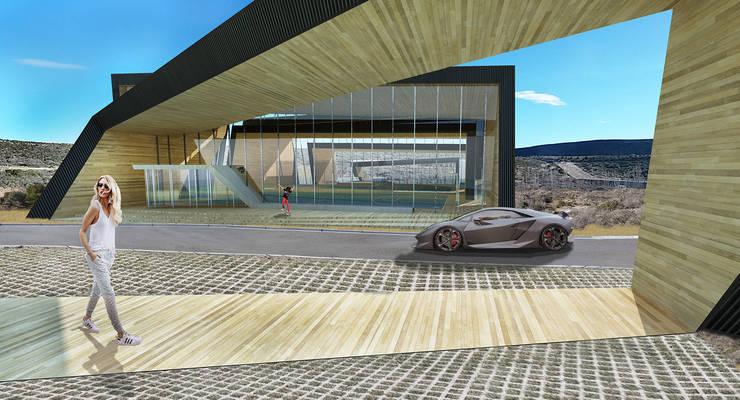 Polideportivo LHCC: Gimnasios de estilo  por Speziale Linares arquitectos