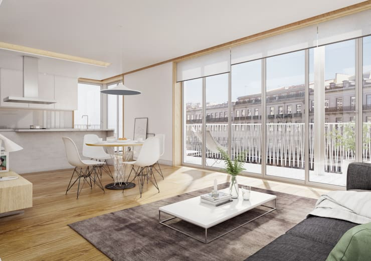 Santos Design - Stone Capital: Salas de estar  por Onstudio Lda