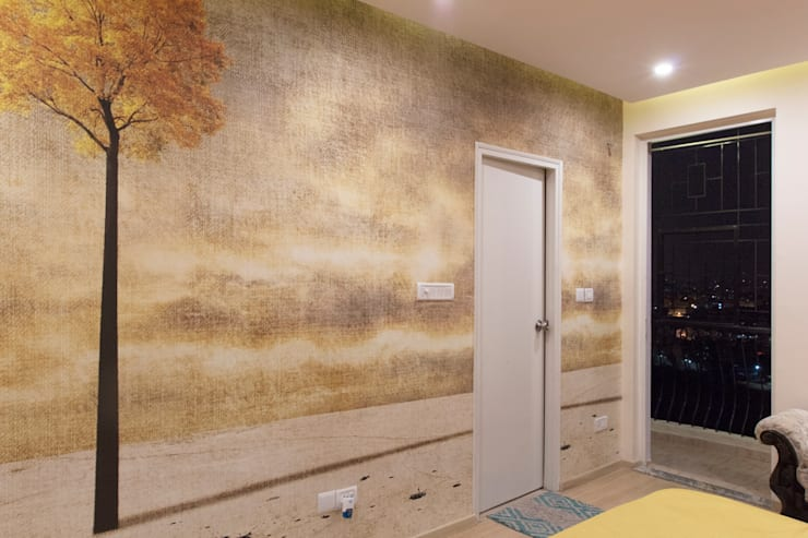 DLF Westend Heights - A1124:  Walls by Pebblewood.in
