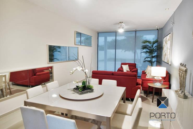 Столовые комнаты в . Автор – PORTO Arquitectura + Diseño de Interiores,