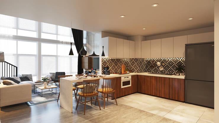 Thiết kế Nội thất:  Nhà bếp by AT Design