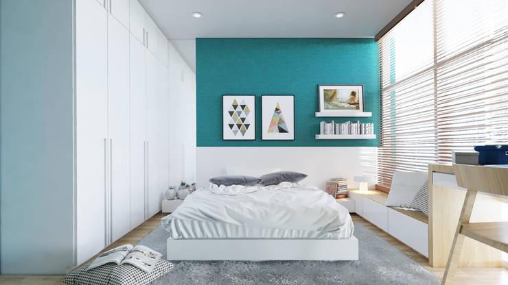 غرفة نوم تنفيذ AT Design