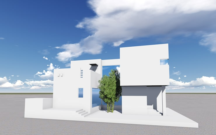 건물전경: (주)건축&건축사사무소예일의  주택,