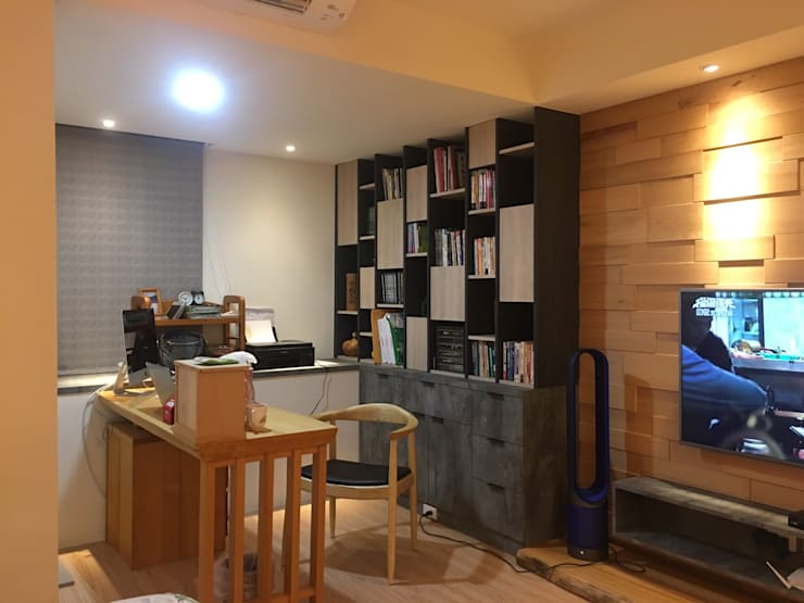 台中 原木宅:  臥室 by 核鉅設計
