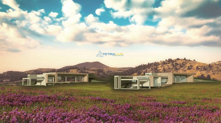 Los Laureles I y II: Casas de estilo  por Tetralux Arquitectos