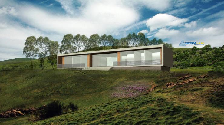 Casa Portal del Lago: Casas de estilo  por Tetralux Arquitectos