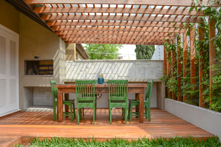Jardines de estilo ecléctico por Bloco Z Arquitetura