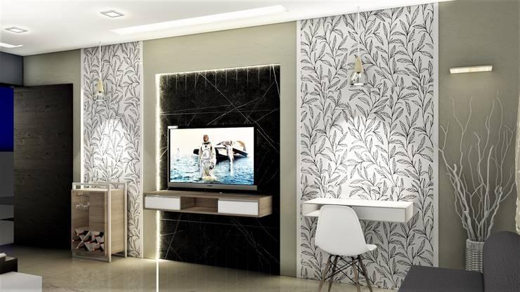 PROPOSED APARTMENT INTERIOR AT KONDHWA, PUNE. : modern Bedroom by DESIGN EVOLUTION LAB