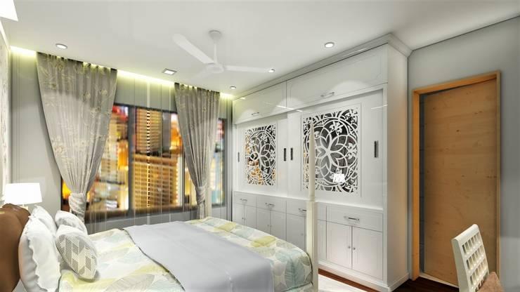 PROPOSED INTERIOR DESIGN AT KHARADI .:  Bedroom by DESIGN EVOLUTION LAB