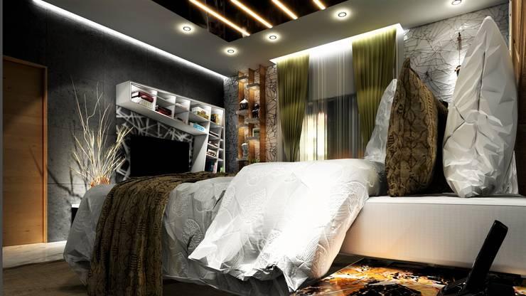 PROPOSED INTERIOR AT UNDRI.:  Bedroom by DESIGN EVOLUTION LAB