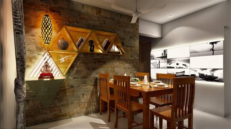 PROPOSED INTERIOR AT PURANIK ABIDANTE: mediterranean Living room by DESIGN EVOLUTION LAB