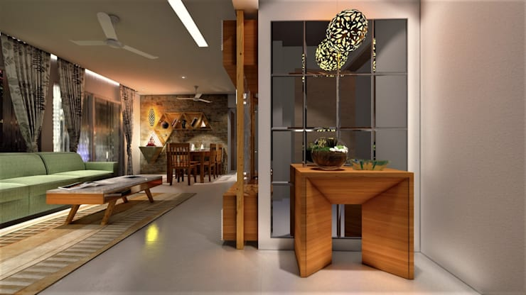 PROPOSED INTERIOR AT PURANIK ABIDANTE:  Living room by DESIGN EVOLUTION LAB