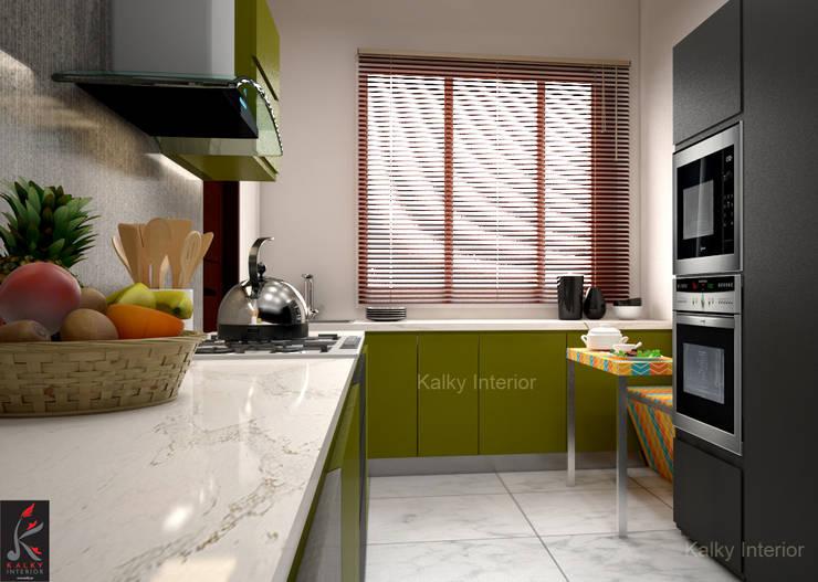 Modular kitchen:  Built-in kitchens by kalky interior